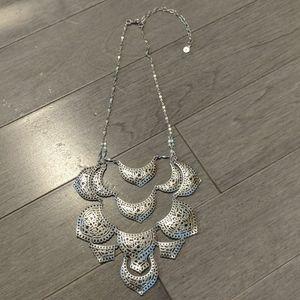 Stella&Dot Silver Plait Necklace NEW